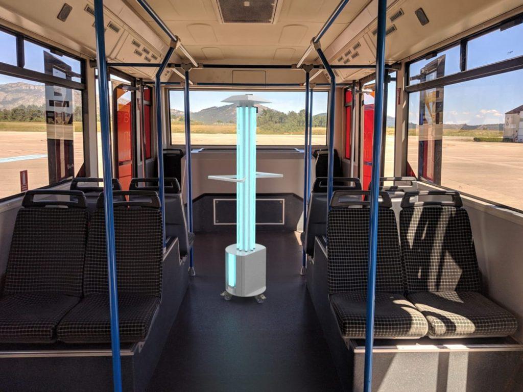 LUViC portátil para transportes públicos